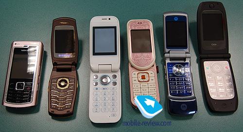 Сравнение женских моделей мобильных