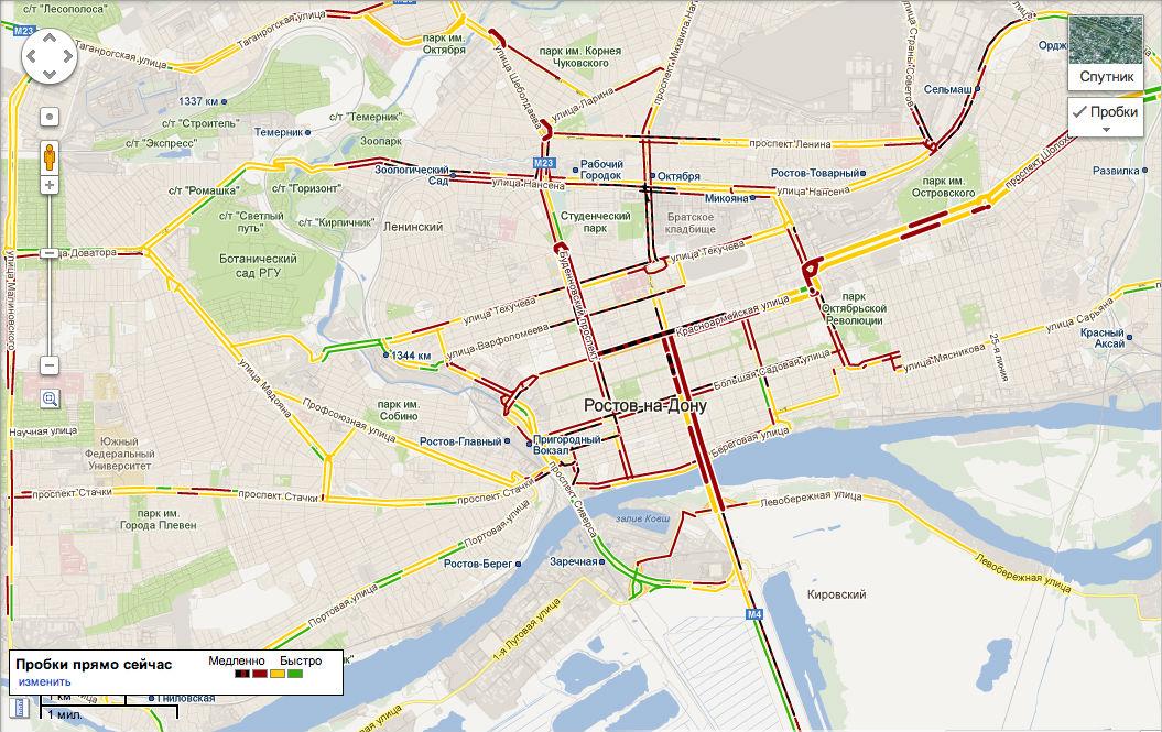 Схема маршрута без пробок