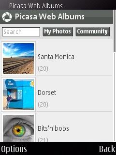 Google Reader и Picasa Web Albums для Symbian S60