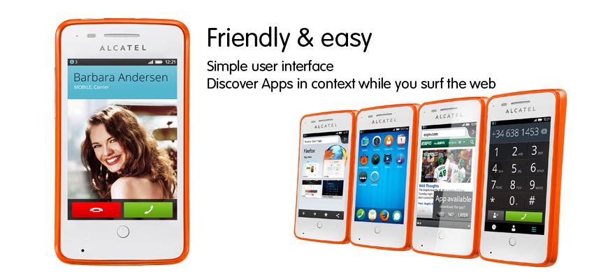 Alcatel  ONE TOUCH FIRE - первый смартфон на базе ОС Firefox
