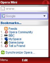 Opera Mini 4.1 бета (подробности)