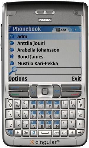 Фото телефона Nokia E62.